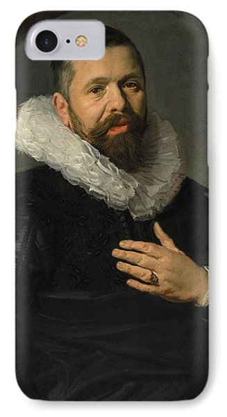 Portrait Of A Bearded Man With A Ruff IPhone Case by Frans Hals