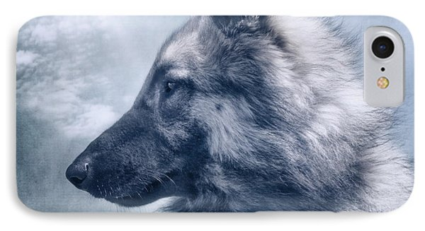 Portrait Of A Belgian Tervuren IPhone Case by Wolf Shadow  Photography