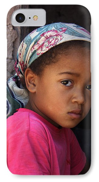 Portrait Of A Berber Girl Phone Case by Ralph A  Ledergerber-Photography