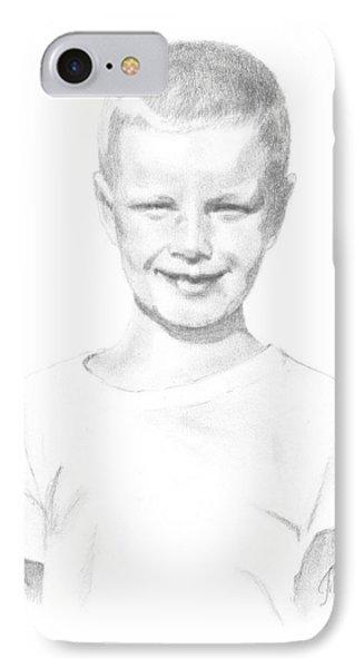 Portrait Of A Boy IPhone Case