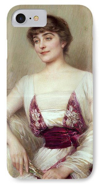 Portrait Of A Countess IPhone Case by Albert Lynch