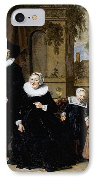 Portrait Of A Dutch Family IPhone Case by Frans Hals