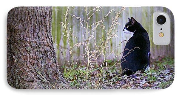 Portrait Of A Feline Phone Case by Brian Wallace