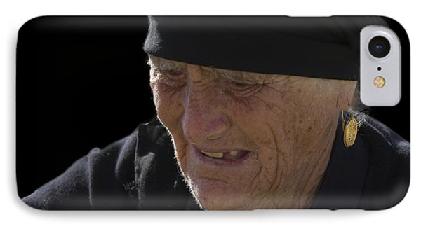 Portrait Of A Fishermans Wife Phone Case by Heiko Koehrer-Wagner
