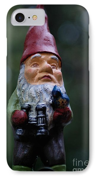 Portrait Of A Garden Gnome Phone Case by Amy Cicconi