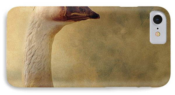 Portrait Of A Goose IPhone Case by Fran Riley