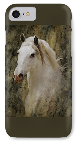 Portrait Of A Horse God IPhone Case by Melinda Hughes-Berland