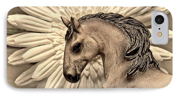 Portrait Of A Horse IPhone Case by Jeff  Gettis