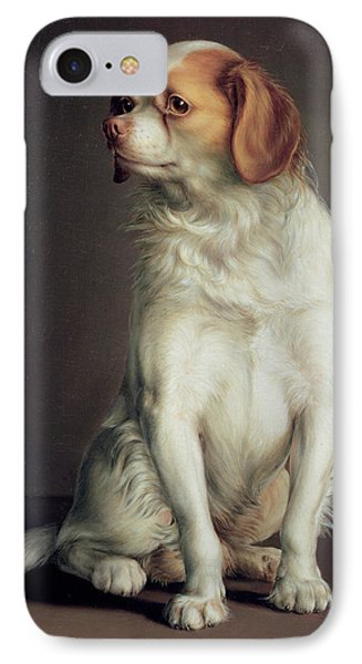 Portrait Of A King Charles Spaniel IPhone Case by Louis Leopold Boilly