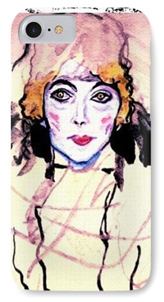 Portrait Of A Lady En Face After Gustav Klimt IPhone Case