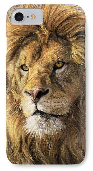 Lion iPhone 7 Case - Portrait Of A Lion by Lucie Bilodeau