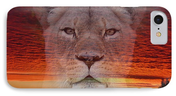 Portrait Of A Lioness At The End Of A Day IPhone Case by Jim Fitzpatrick