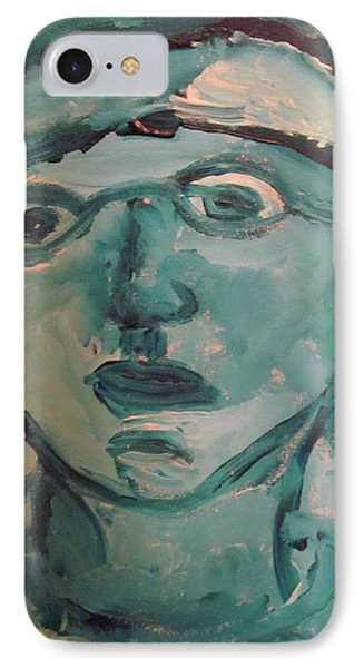 IPhone Case featuring the painting Portrait Of A Man by Shea Holliman