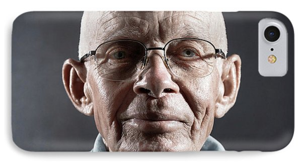 Portrait Of A Man Wearing Glasses IPhone Case by Ktsdesign