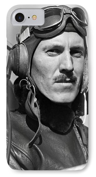 Portrait Of A Marine IPhone Case by Underwood Archives