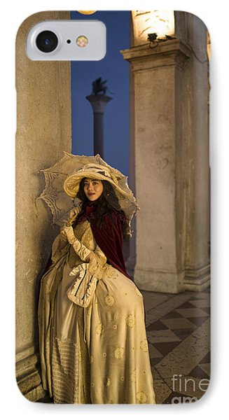 Portrait Of A Mask IIi IPhone Case by Yuri Santin