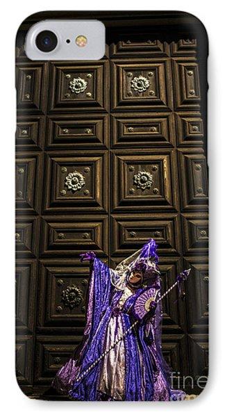 Portrait Of A Mask Iv IPhone Case by Yuri Santin