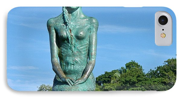Portrait Of A Mermaid IPhone Case by Michelle Wiarda