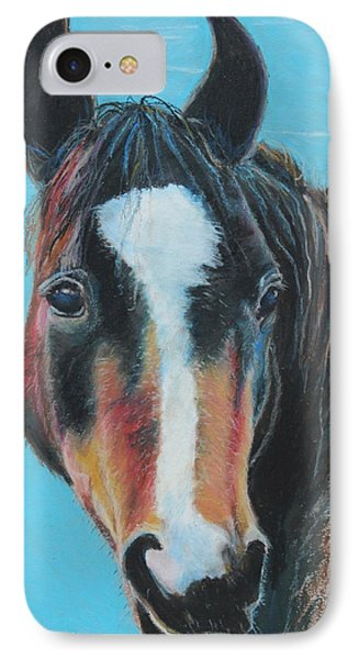 Portrait Of A Wild Horse IPhone Case by Jeanne Fischer