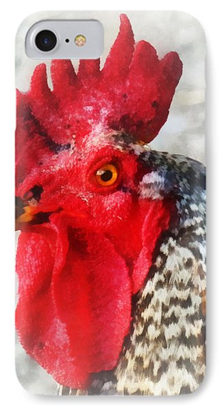 Portrait Of A Rooster Phone Case by Susan Savad