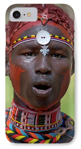 Portrait Of A Samburu Tribal IPhone Case by Panoramic Images
