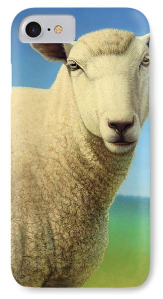 Sheep iPhone 7 Case - Portrait Of A Sheep by James W Johnson