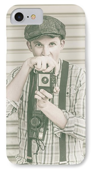 Portrait Of A Surprised Photographer IPhone Case by Jorgo Photography - Wall Art Gallery