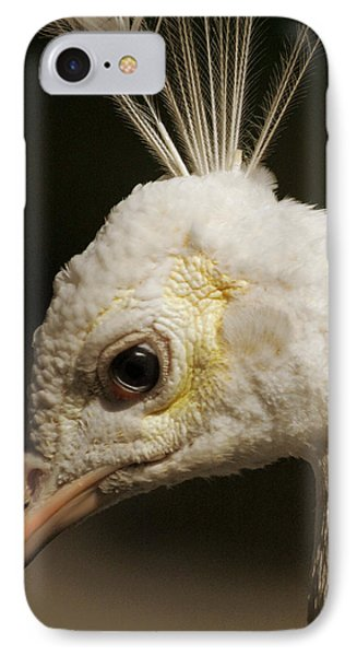 IPhone Case featuring the photograph Portrait Of A White Peacock by Lena Wilhite