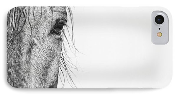 Portrait Of A Wild Mustang IPhone Case by Bob Decker