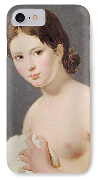 Portrait Of A Young Girl IPhone Case by Jacques Louis David