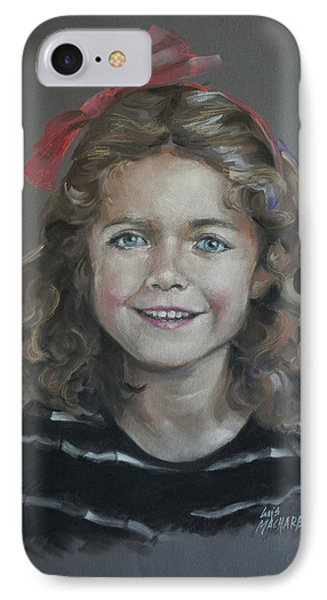 Portrait Of A Young Girl Phone Case by Mary Machare