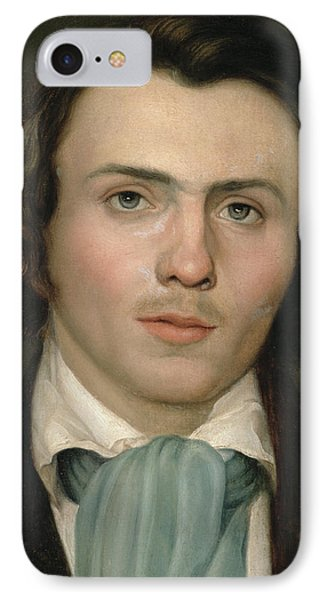 Portrait Of A Young Man IPhone Case by Rudolph Friedrich Wasmann