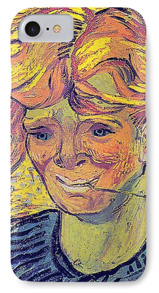 Portrait Of A Young Man With Cornflower Phone Case by Vincent Van Gogh