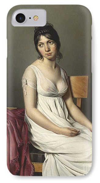 Portrait Of A Young Woman In White Phone Case by Jacques Louis David