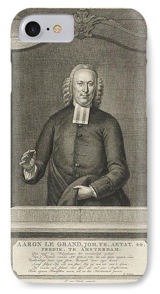 Portrait Of Aaron Le Grand, Jacob Houbraken IPhone Case by Jacob Houbraken And Rutger Schutte And Pieter Van Dorth