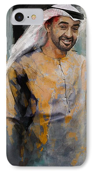 Portrait Of Abdullah Bin Zayed Al Nahyen 5 IPhone Case by Maryam Mughal