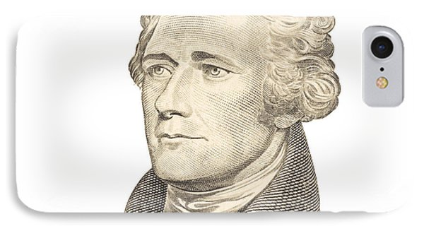 Portrait Of Alexander Hamilton On White Background IPhone Case by Keith Webber Jr