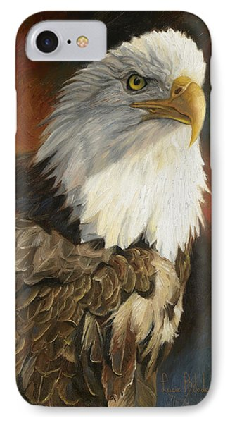 Portrait Of An Eagle IPhone 7 Case by Lucie Bilodeau