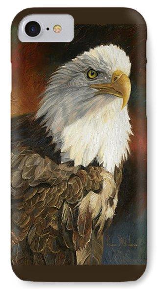 Portrait Of An Eagle IPhone Case by Lucie Bilodeau