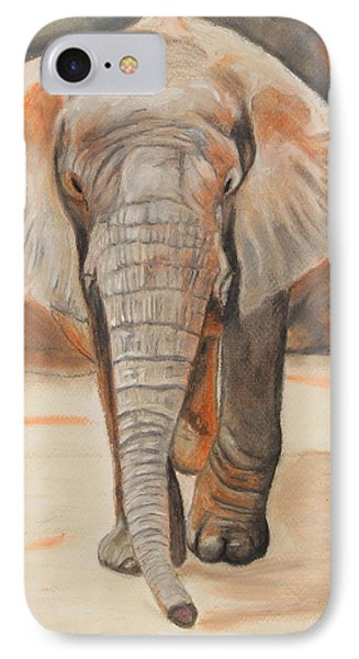 IPhone Case featuring the painting Portrait Of An Elephant by Jeanne Fischer