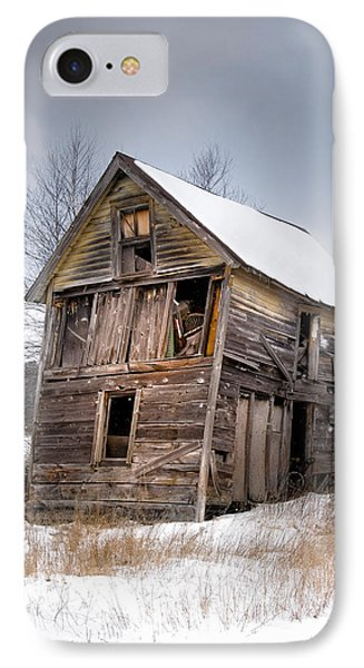 Portrait Of An Old Shack - Agriculural Buildings And Barns IPhone Case