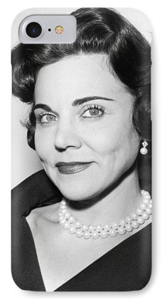 Portrait Of Ann Landers IPhone Case by Fred Palumbo