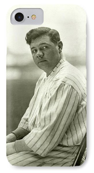 Portrait Of Babe Ruth IPhone 7 Case by Nicholas Muray