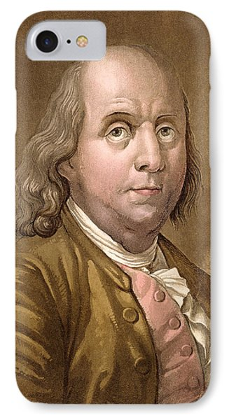 Portrait Of Benjamin Franklin IPhone Case by Gallo Gallina