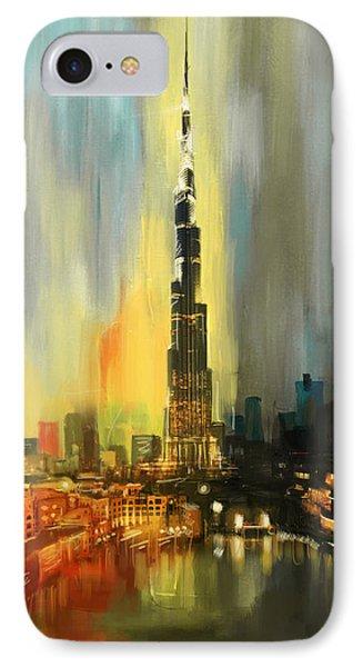 Portrait Of Burj Khalifa IPhone Case by Corporate Art Task Force