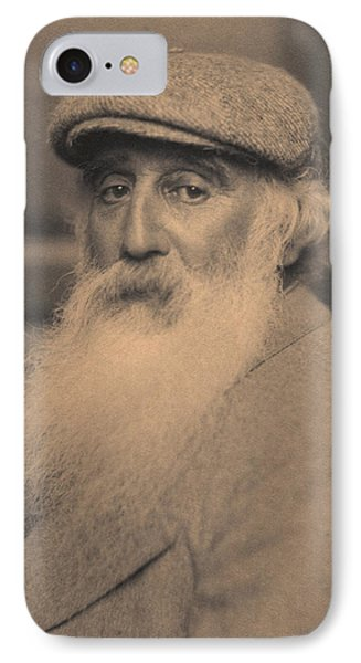 Portrait Of Camille Pissarro 1830-1903 Bw Photo IPhone Case by French School