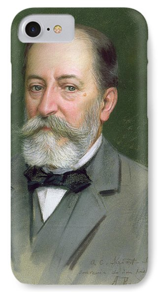 Portrait Of Camille Saint-saens IPhone Case by Alberto Rossi