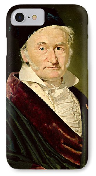 Portrait Of Carl Friedrich Gauss, 1840 Oil On Canvas IPhone Case by Christian-Albrecht Jensen