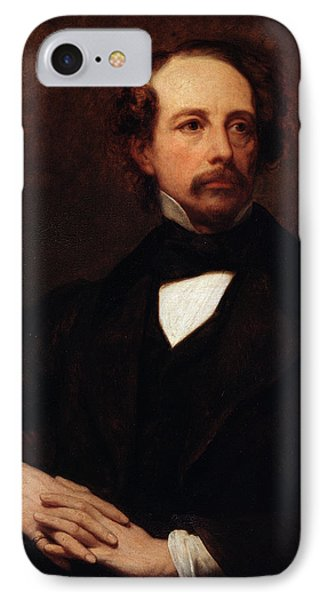 Portrait Of Charles Dickens IPhone Case