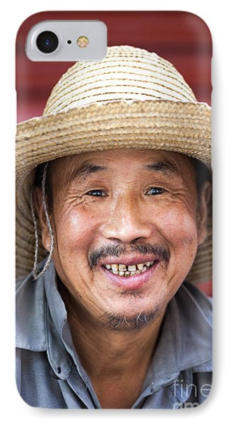 Portrait Of Chinese Peasant IPhone Case by Matteo Colombo